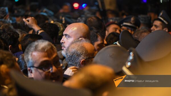 Армен Ашотян во время митинга в поддержку сюникцев (22 апреля 2021). Еревaн - Sputnik Армения