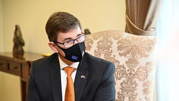 Новоназначенный посол Королевства Нидерландов в Армении Нико Схермерса на встрече с министром иностранных дел Армении (4 сентября 2020). Еревaн - Sputnik Արմենիա