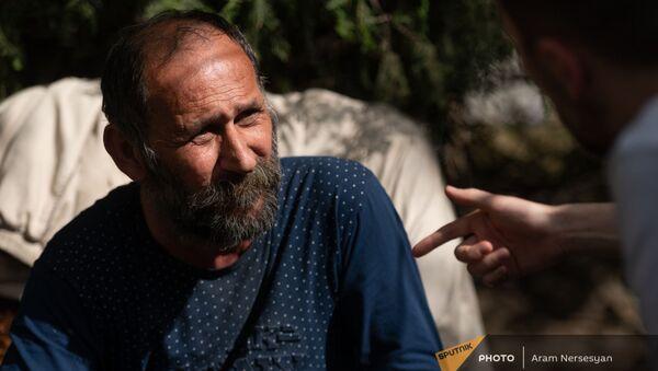Житель Мартакертского района Карабаха сириец Акоп Кошкарян  - Sputnik Армения