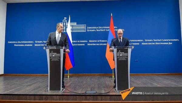 Пресс-конференция Сергея Лаврова и Ара Айвазяна (6 мая 2021). Еревaн - Sputnik Армения