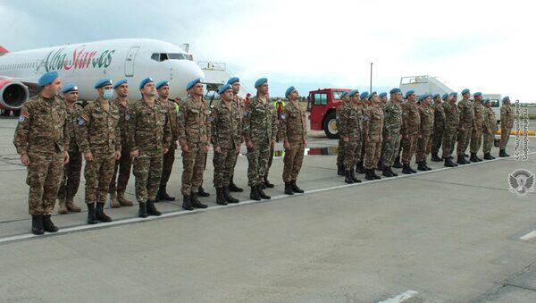 Армянские военнослужащие, выполнявшие миротворческую миссию в Ливане, вернулись в Армению (7 мая 2021).  - Sputnik Армения