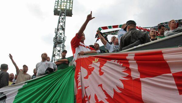Польские болельщики на трибуне - Sputnik Армения