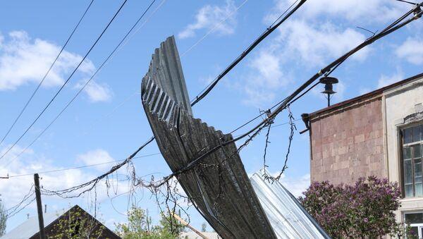 Ряд населенных пунктов в Ширакской области пострадали от сильного ветра  - Sputnik Արմենիա