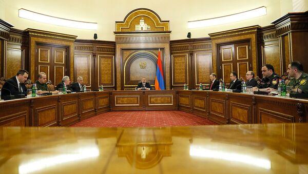 Речь премьер-министра Никола Пашиняна на заседании Совета Безопасности Армении (13 мая 2021). Еревaн - Sputnik Արմենիա