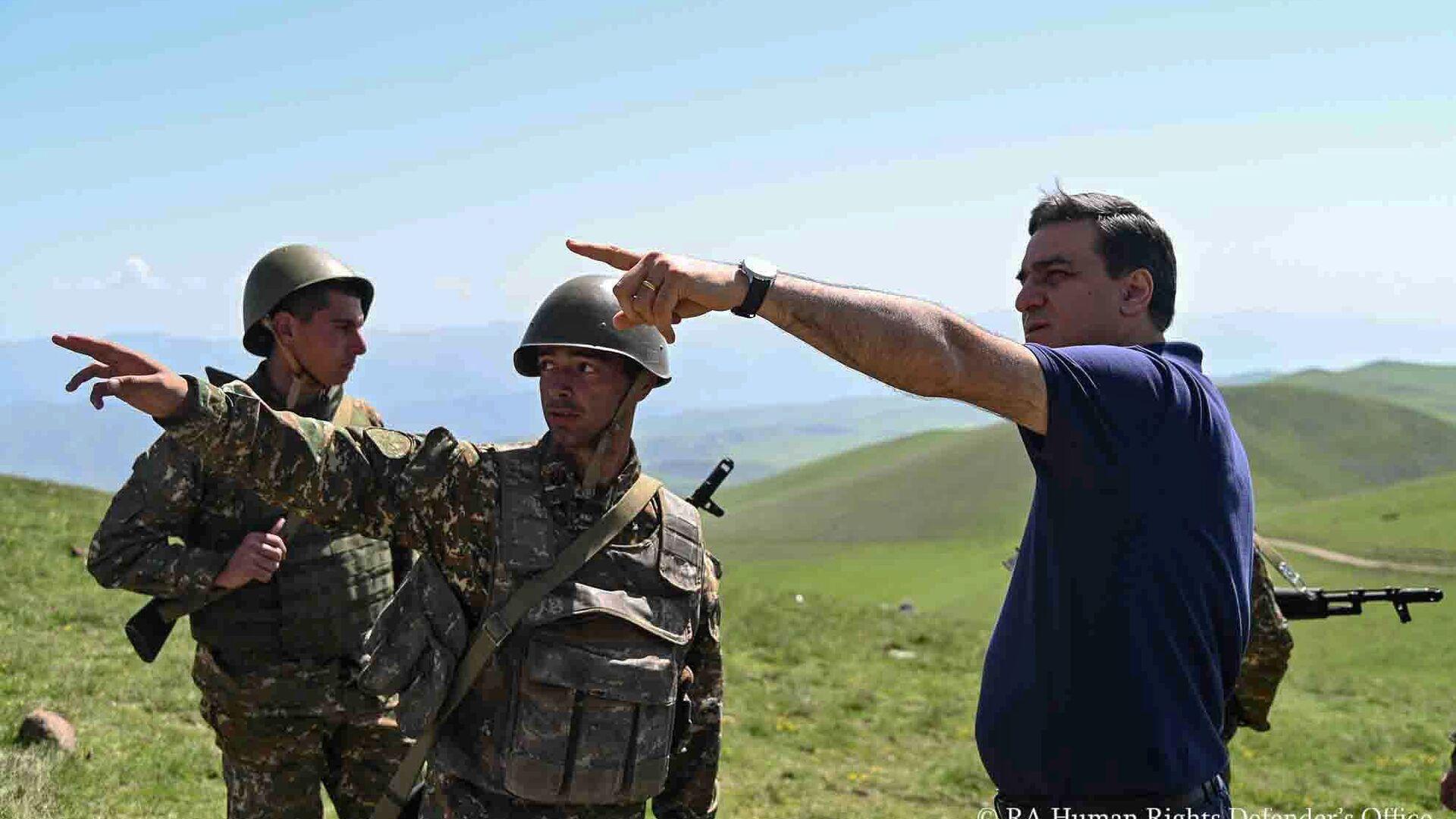 Омбудсмен Армении Арман Татоян посетил Сюникскую область с рабочим визитом (14 мая 2021). Сюник - Sputnik Армения, 1920, 22.09.2021
