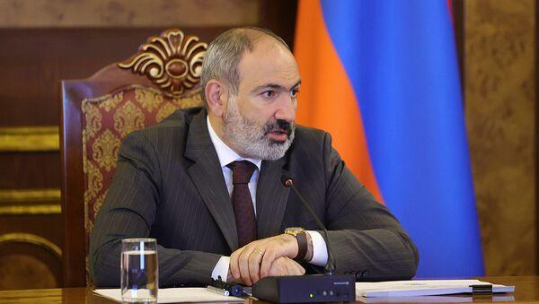 Совещание по макроэкономическим и налогово-бюджетным программам во главе с и.о. премьер-министра Николом Пашиняном (19 мая 2021). Еревaн - Sputnik Армения