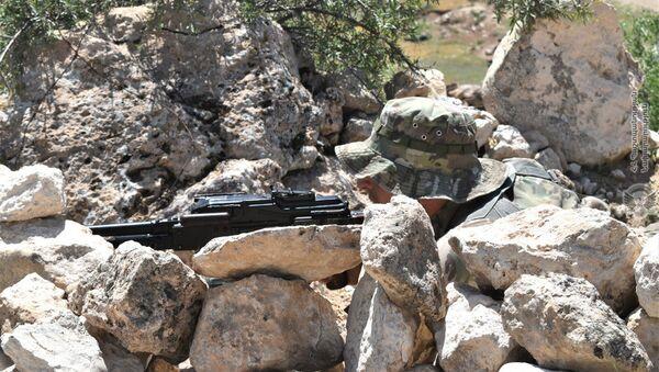 Военные учения отряда специального назначения в одном из воинских частей Армении - Sputnik Արմենիա