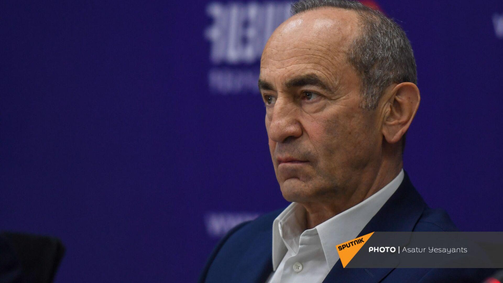 Роберт Кочарян на пресс-конференции лидеров блока Айастан (25 мая 2021). Еревaн - Sputnik Արմենիա, 1920, 11.09.2021