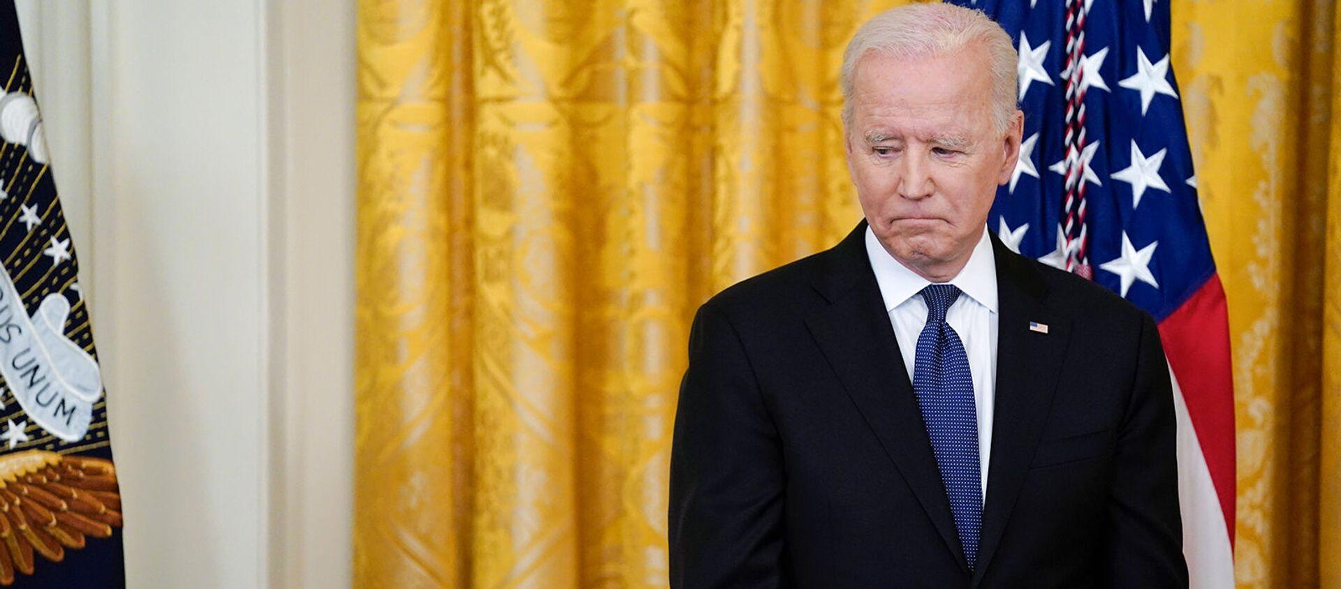 Президент США Джо Байден перед подписанием Закона о преступлениях на почве ненависти COVID-19 (20 мая 2021). Вашингтон - Sputnik Армения, 1920, 07.06.2021