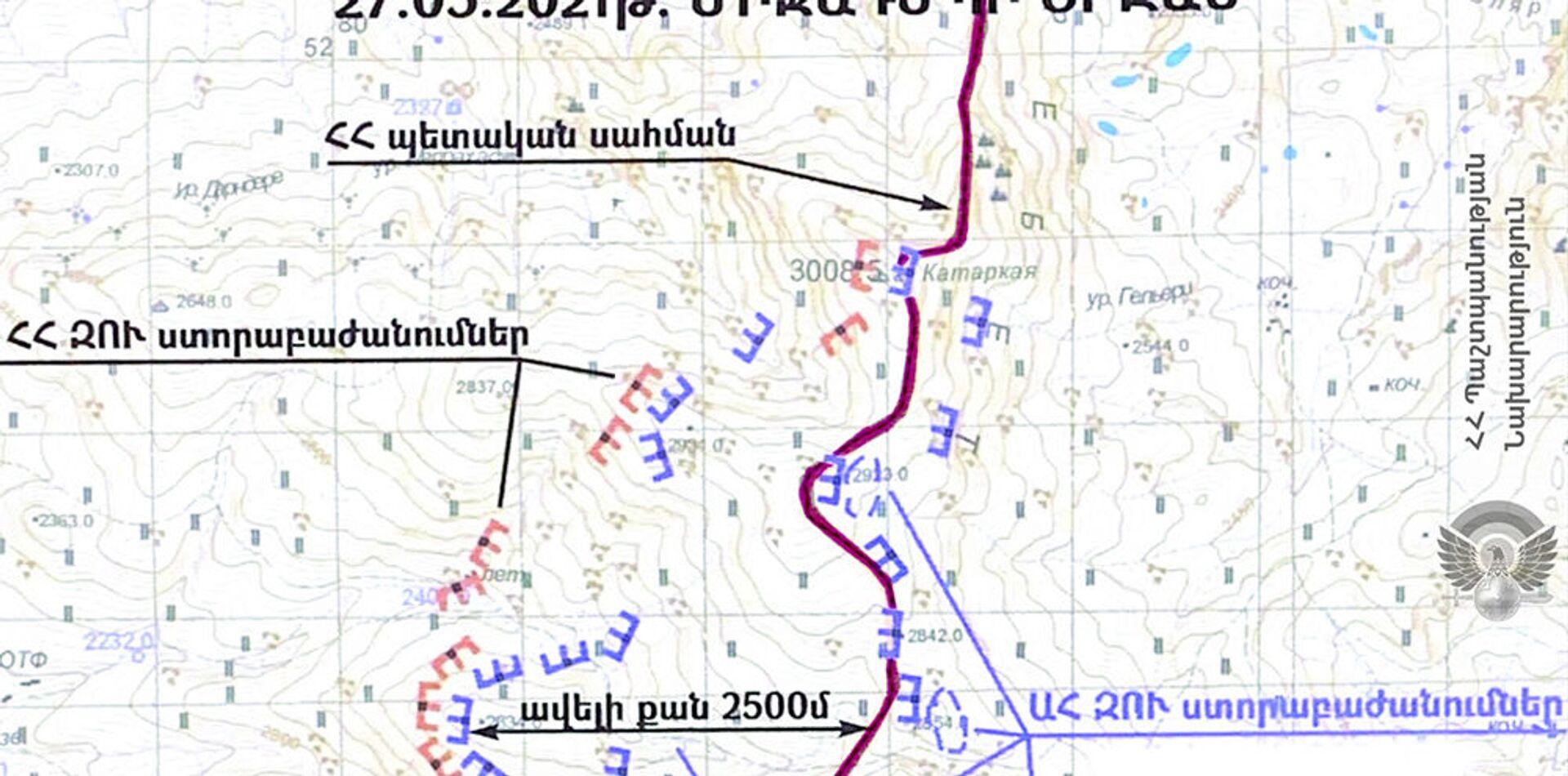 Գերեվարված հայ զինծառայողները գտնվել են ՀՀ տարածքում. ՊՆ-ն քարտեզ է ներկայացրել - Sputnik Արմենիա, 1920, 27.05.2021
