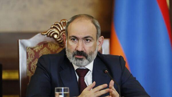 И.о. премьер-министра Никол Пашинян на заседании Совета безопасности Армении (27 мая 2021). Еревaн - Sputnik Армения