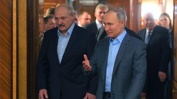 Встреча президента РФ В. Путина с президентом Белоруссии А. Лукашенко  - Sputnik Армения