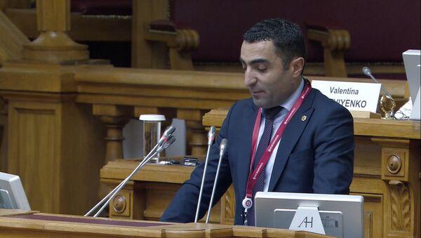 Выступление и.о. министра окружающей среды Романоса Петросяна на 9-ой Международной экологической конференции в Санкт-Петербурге - Sputnik Արմենիա