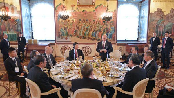 Мероприятия с участием президента РФ В. Путина в рамках государственного визита в РФ председателя КНР Си Цзиньпина - Sputnik Արմենիա