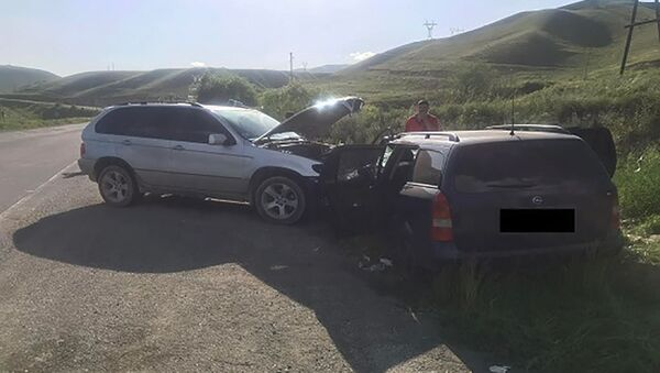 Дорожно-транспортное происшествие у въезда в Ванадзор (2 июня 2021). Лори - Sputnik Արմենիա