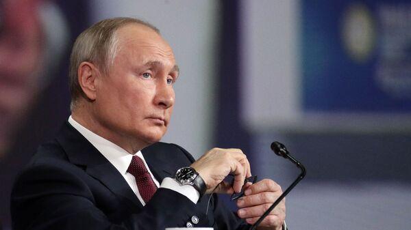 Президент РФ В. Путин принял участие в пленарном заседании ПЭМФ-2021 - Sputnik Արմենիա