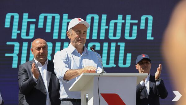 Митинг блока Айастан в Каджаране (7 июня 2021). Сюник - Sputnik Армения