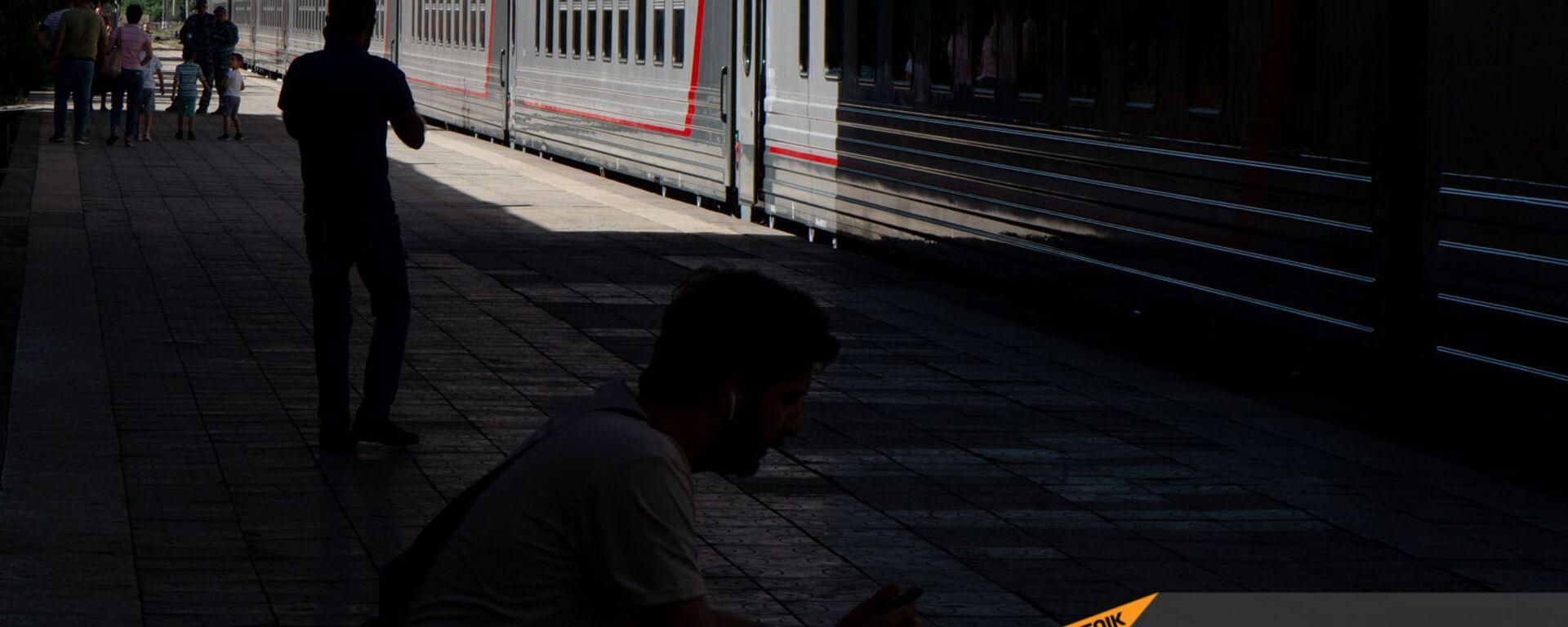 Новые пассажирские вагоны российского производства, прибывшие в Еревaн - Sputnik Армения, 1920, 08.06.2021