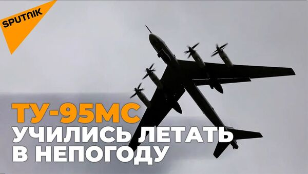 Полеты под дождем: Ту-95МС провели учения в сложных метеоусловиях - Sputnik Армения