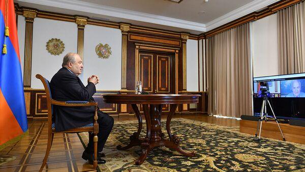 Նախագահ Արմեն Սարգսյանը մասնակցել է «Հորասիս» միջազգային վերլուծական կենտրոնի գլոբալ հանդիպմանը - Sputnik Արմենիա