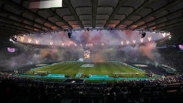 Церемония открытия Чемпионата Европы по футболу Евро-2020 на Олимпийском стадионе (11 июня 2021). Рим - Sputnik Армения