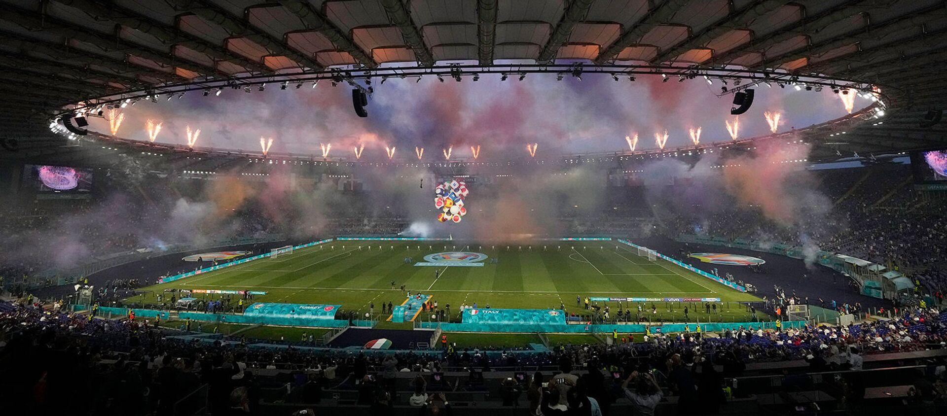 Церемония открытия Чемпионата Европы по футболу Евро-2020 на Олимпийском стадионе (11 июня 2021). Рим - Sputnik Армения, 1920, 14.06.2021