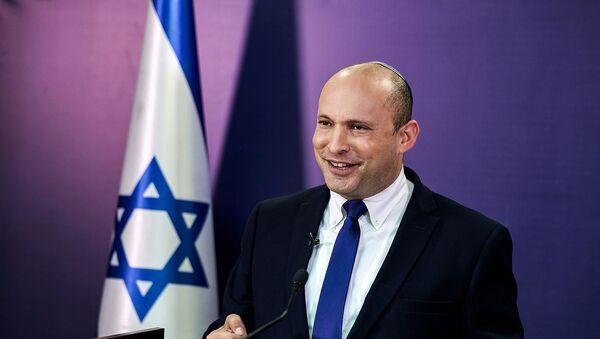 Нафтали Беннет, член израильского парламента от партии Ямина, во время выступления в Кнессете (6 июня 2021). Иерусалим - Sputnik Արմենիա