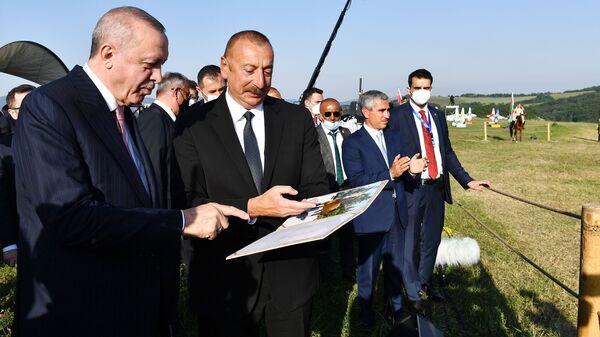 Ильхам Алиев и Реджеп Эрдоган в Шуши - Sputnik Արմենիա