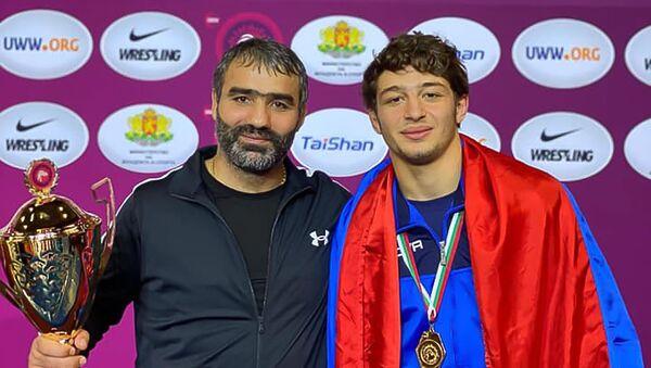 Чемпион молодежного Чемпионата Европы по вольной борьбе Арен Исраелян - Sputnik Արմենիա