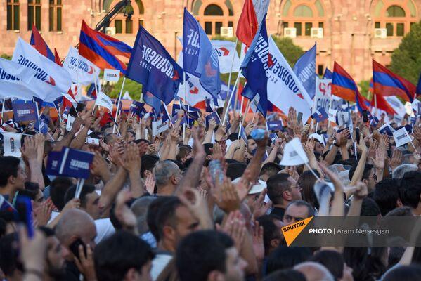 «Հայաստան» դաշինքի աջակիցները`երթին - Sputnik Արմենիա