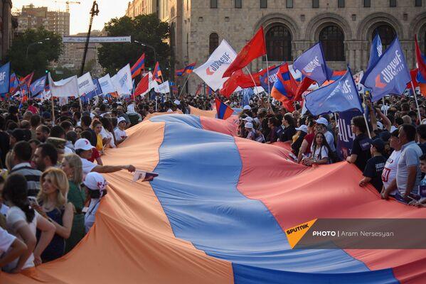«Հայաստան» դաշինքի աջակիցները`ամփոփիչ հանրահավաքին - Sputnik Արմենիա