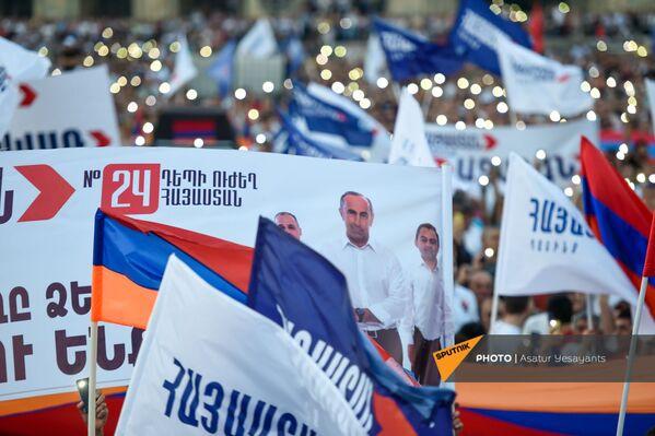 «Հայաստան» դաշինքի պաստառները հանրահավաքին - Sputnik Արմենիա