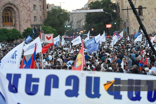 «Հայաստան» դաշինքի աջակիցները. հանրահավաք. 18.06.21 - Sputnik Արմենիա