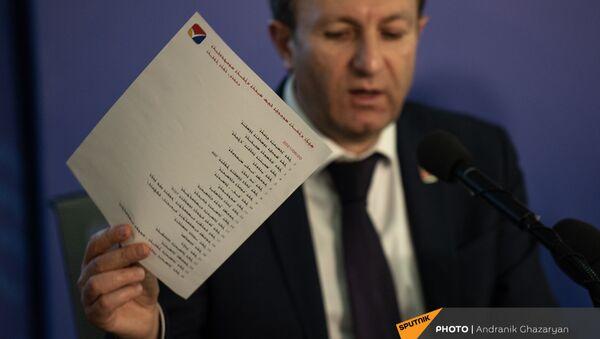 Секретарь ЦИК Армен Смбатян в день  внеочередных парламентских выборов в Армении  (20 июня 2021). Еревaн - Sputnik Արմենիա