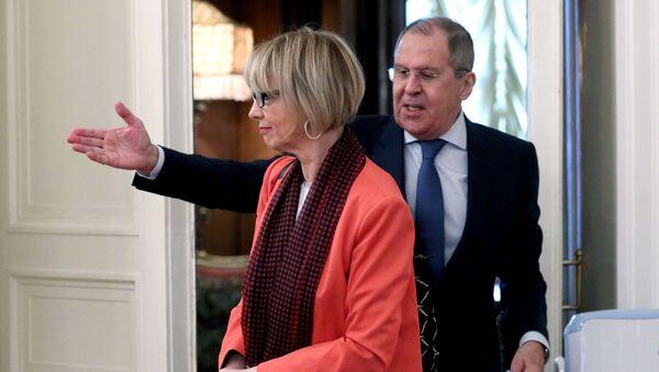Встреча главы МИД РФ и генсекретаря ОБСЕ С. Лаврова и Х. Шмид - Sputnik Армения
