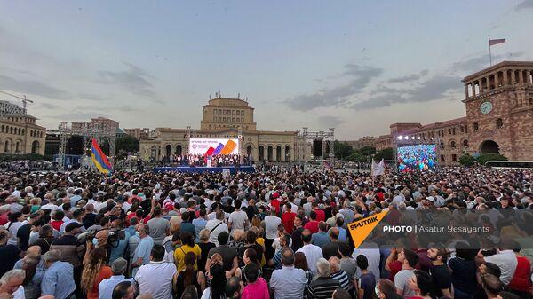 Հանրահավաք Հանրապետության հրապարակում - Sputnik Արմենիա