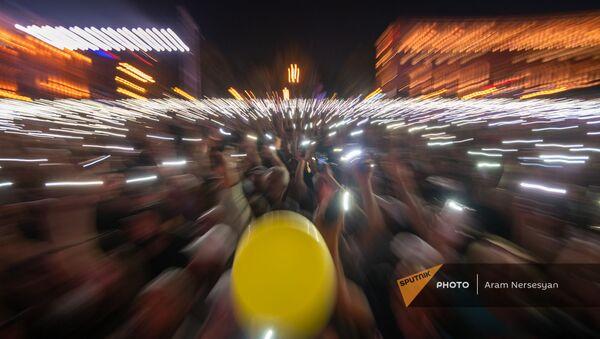 Mитинг в поддержку победы партии Гражданский договор на внеочередных выборах (21 июня 2021). Еревaн - Sputnik Արմենիա