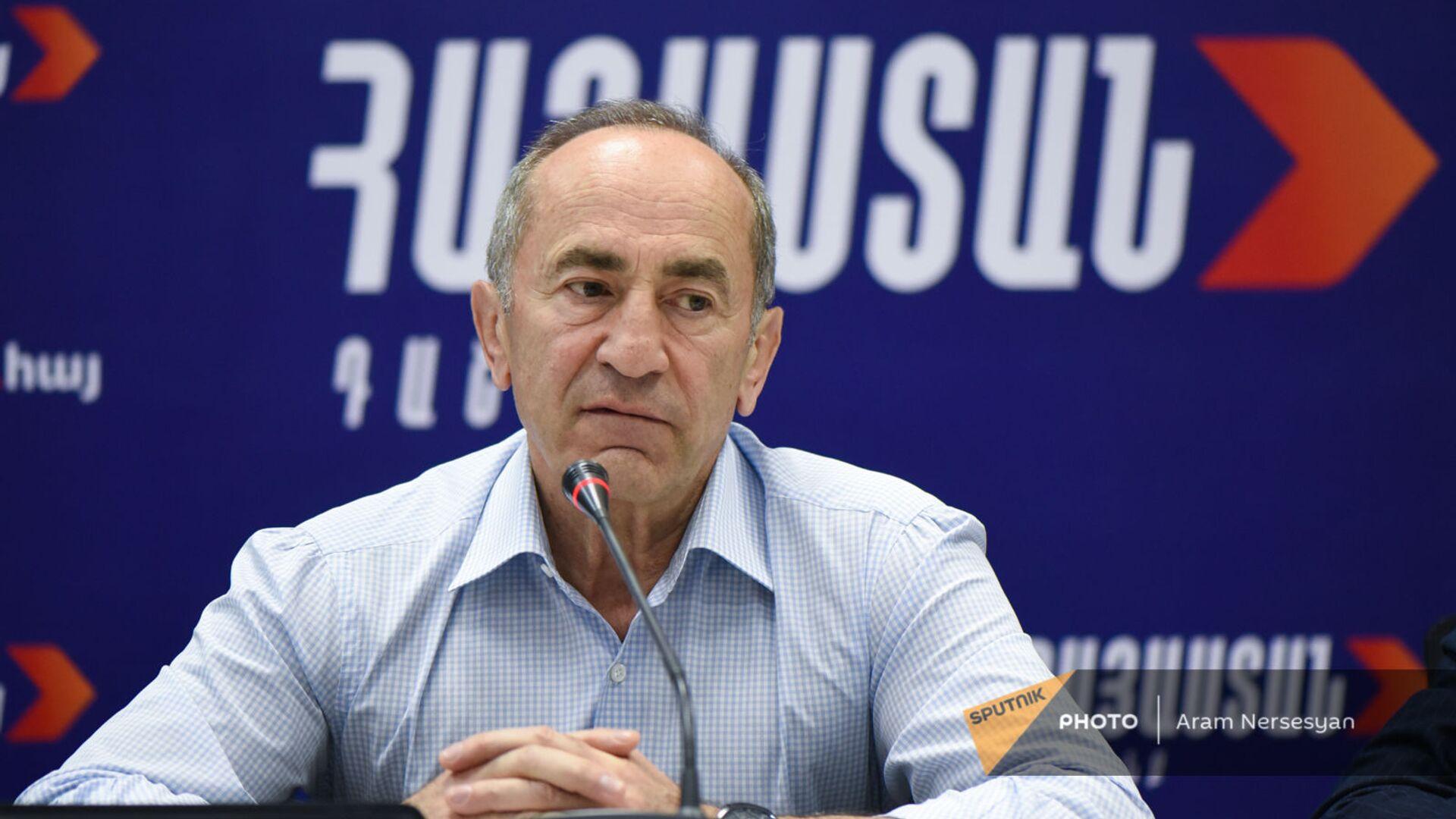 Роберт Кочарян на пресс-конференции лидеров блока Айастан (22 июня 2021). Еревaн - Sputnik Армения, 1920, 17.09.2021