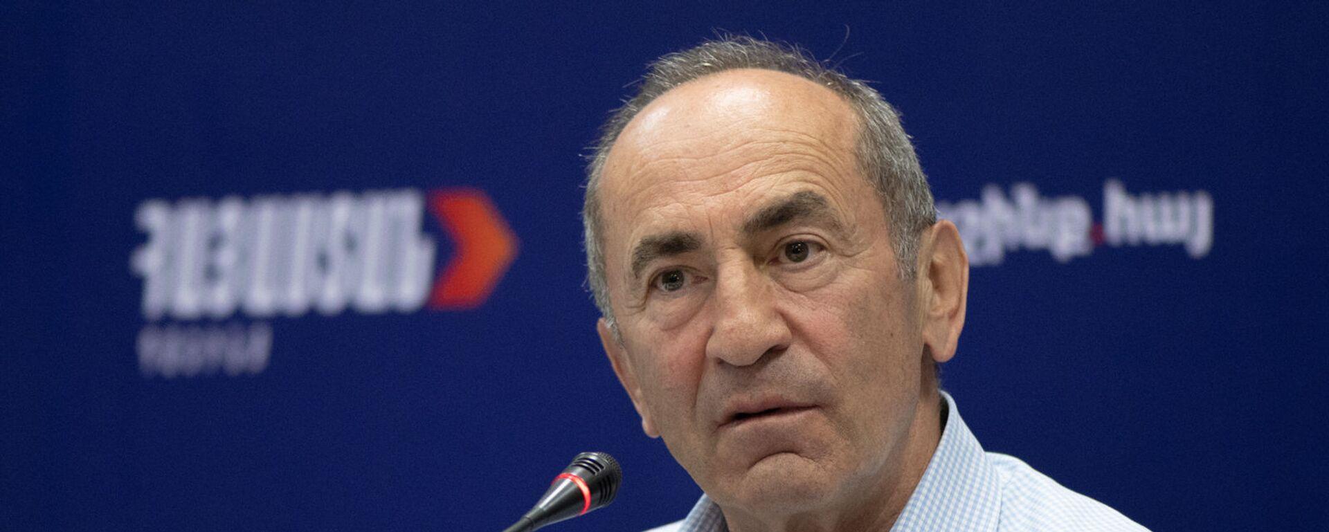 Роберт Кочарян на пресс-конференции лидеров блока Айастан (22 июня 2021). Еревaн - Sputnik Армения, 1920, 21.07.2021