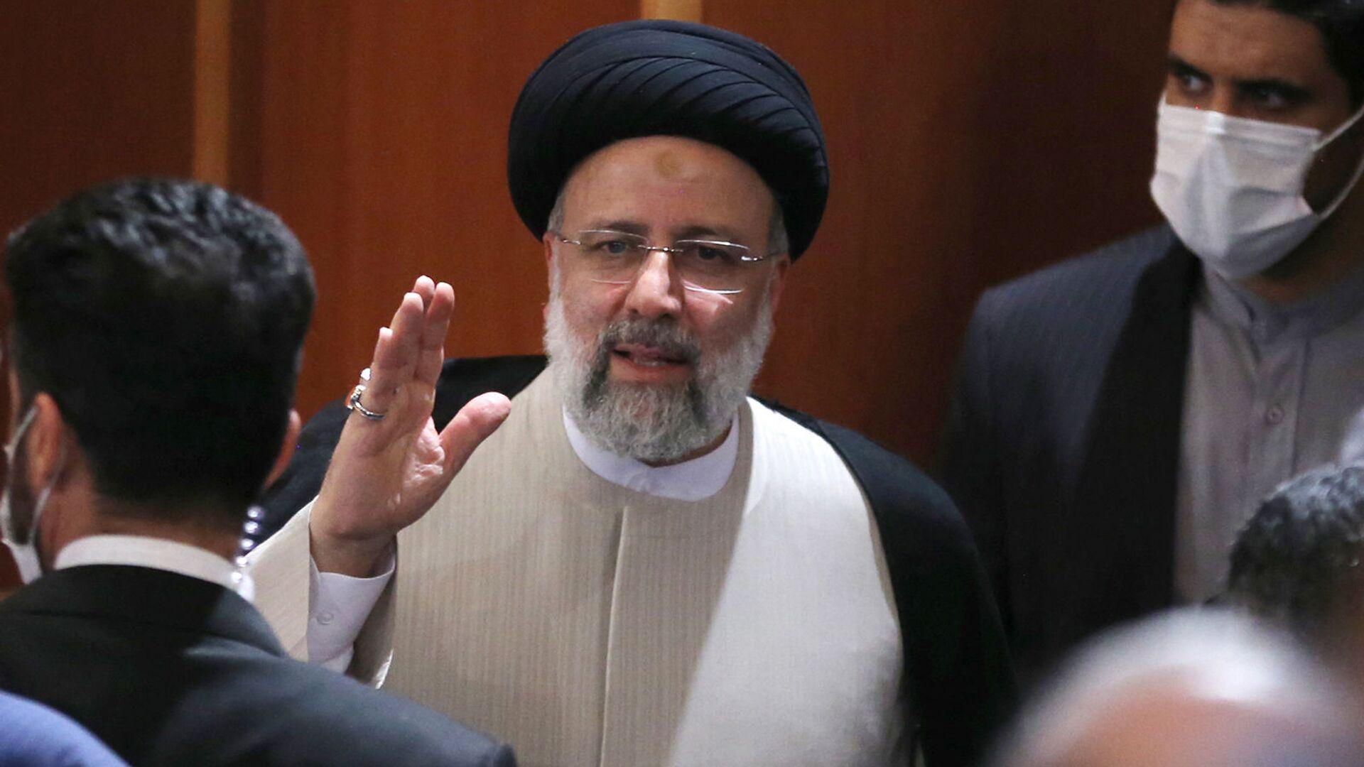 Новоизбранный президент Ирана Ибрахим Раиси во время пресс-конференции (21 июня 2021). Тегеран - Sputnik Армения, 1920, 21.09.2021