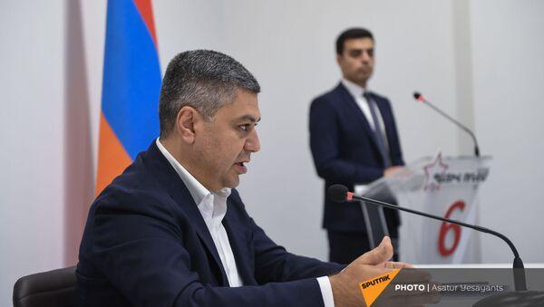 Пресс-конференция Артура Ванецяна (23 июня 2021). Еревaн - Sputnik Армения