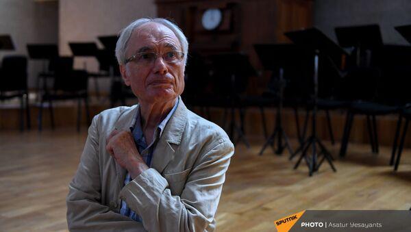 Народный артист, композитор Тигран Мансурян на пресс-конференции (24 июня 2021). Еревaн - Sputnik Արմենիա