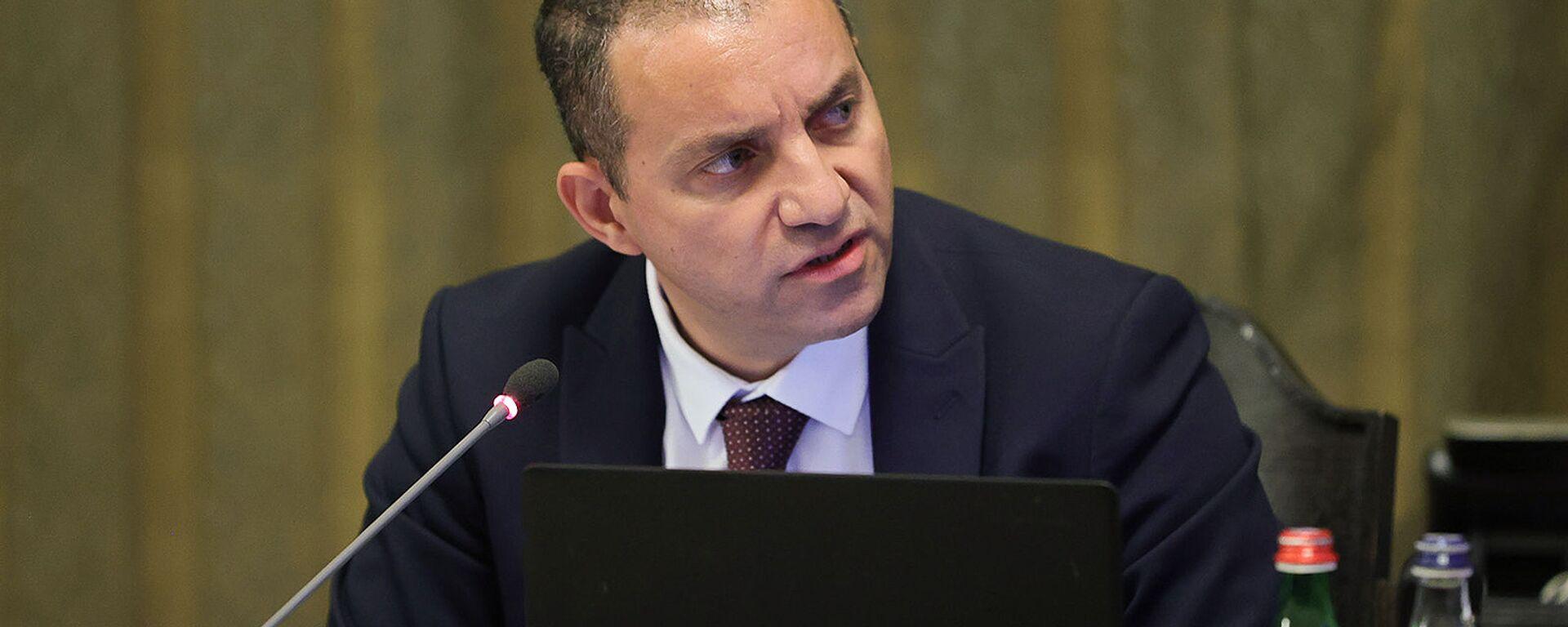 И.о. министра экономики Ваган Керобян на очередном заседании правительства (24 июня 2021). Еревaн - Sputnik Армения, 1920, 23.09.2021