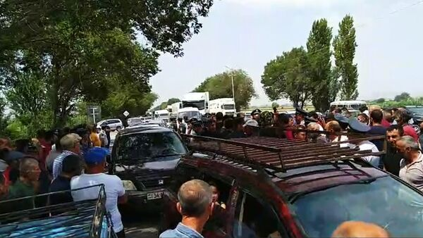 Акция протеста на трассе Ереван - Армавир - Sputnik Արմենիա