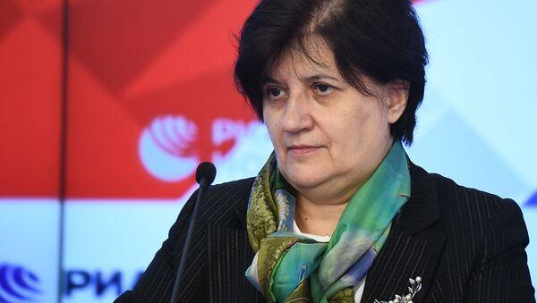 Специальный представитель ВОЗ в России Мелита Вуйнович во время онлайн пресс-конференции (8 октября 2020). Москвa - Sputnik Армения