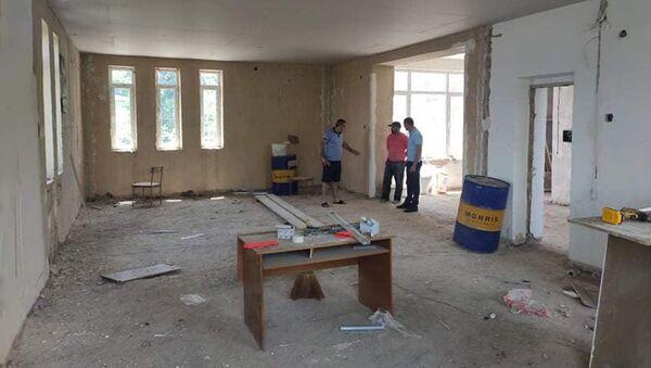 Ремонтно-строительные работы центра развития в селе Давид Бек Сюникской области - Sputnik Արմենիա
