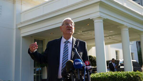 Президент Израиля Реувен Ривлин беседует с журналистами после встречи с президентом США Джо Байденом в Белом доме (28 июня 2021). Вашингтон - Sputnik Армения