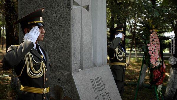 День памяти пропавших без вести в военном пантеоне Ераблур (29 июня 2021). Еревaн - Sputnik Армения