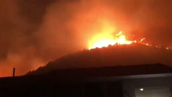 В канадской провинции Британская Колумбия лесной пожар почти полностью уничтожил деревню. - Sputnik Армения