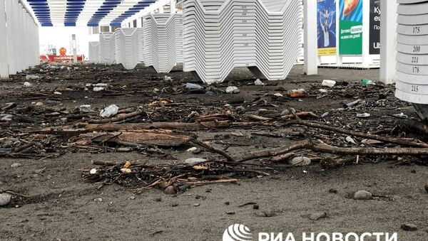 Пляж в Сочи после погодных катаклизмов - Sputnik Армения